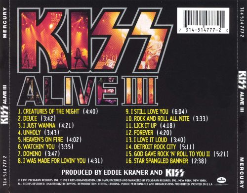 Alive Kiss Songs Reviews Credits Allmusic