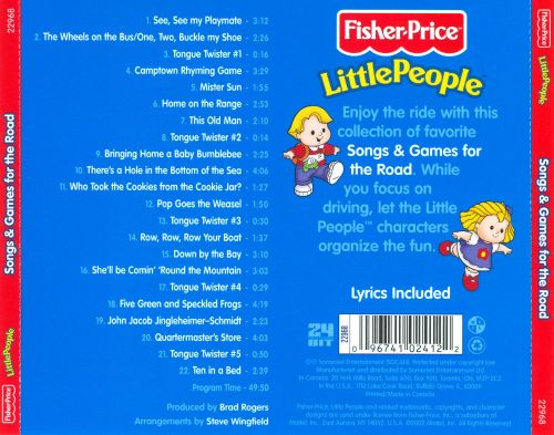 Little People Songs And Games For The Road  Fisherprice