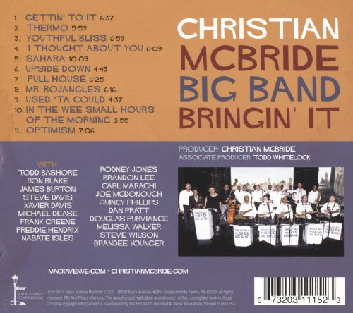 Image result for Christian McBride Big Band - Bringin' It