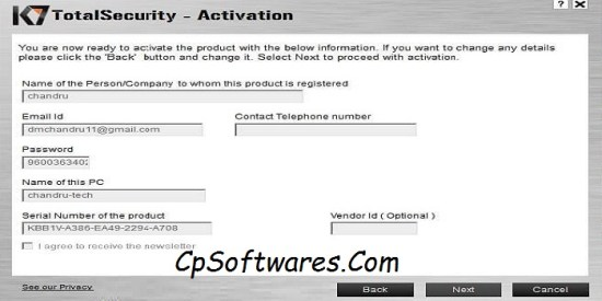 k7 Total Security Serial Number & Crack Download