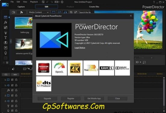 CyberLink PowerDirector 16 Ultimate Crack Keygen Download