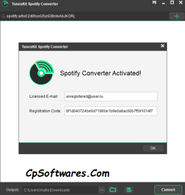 TunesKit Spotify Converter 1.2.8 Crack