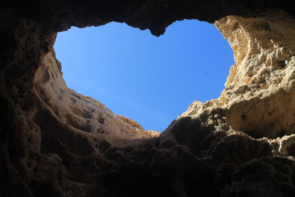 heart shaped cave in the Algarve