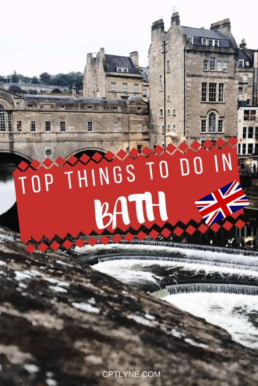 Take a day trip to the architectural Roman city of Bath in England. Discover the top things to do in Bath and discover in this lovely city from The Roman Bath to Pulteney Bridge. #travel #England #Bath #travel #uk #England #Bath