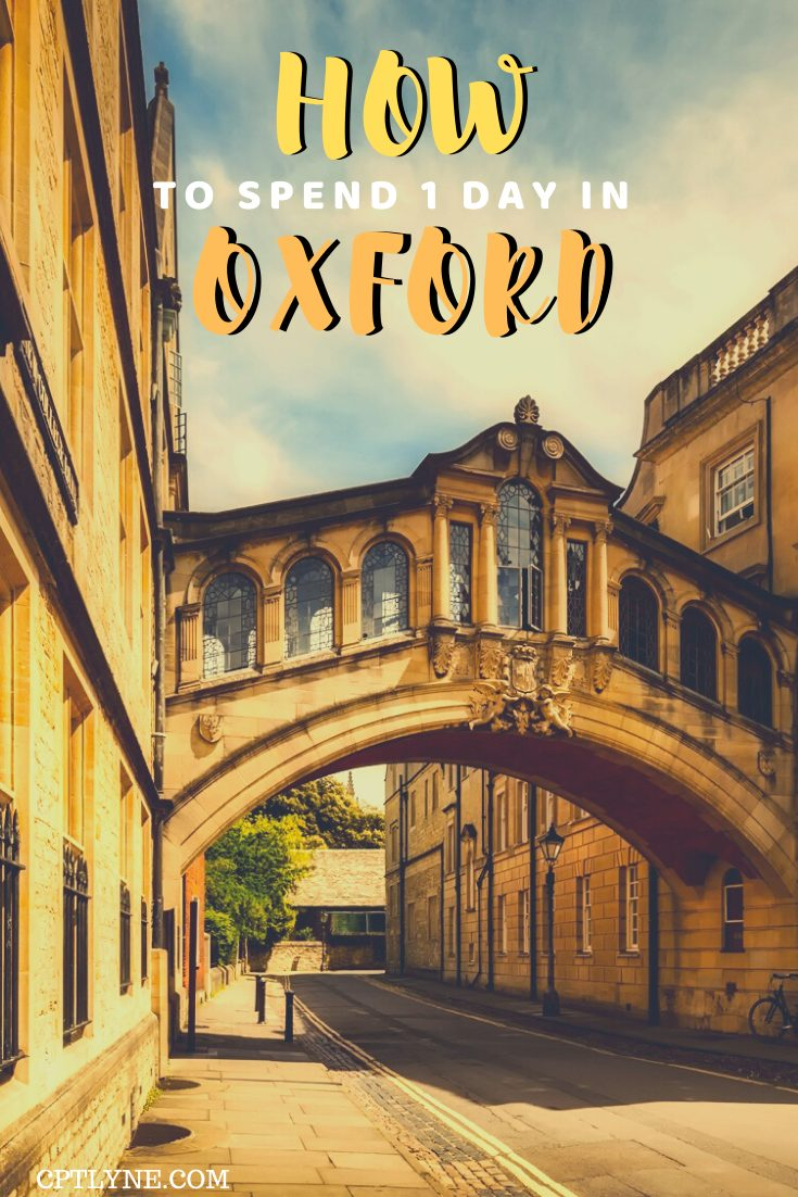 Oxford one day itinerary