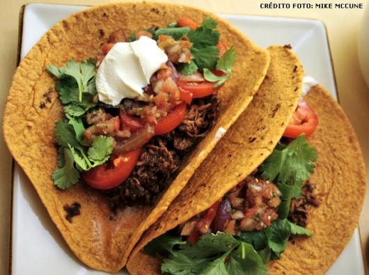 Comida mexicana  Receita de Ropa Vieja com Tacos  Cursos