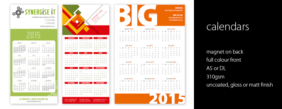 Calendars with Magnets - City Printing Works