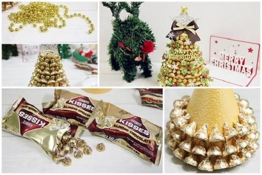 Juletræ lavet af chokolade
