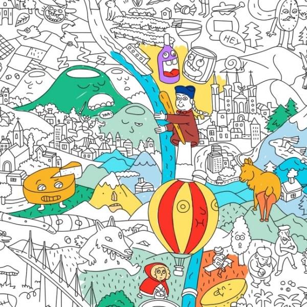 Poster géant à colorier France