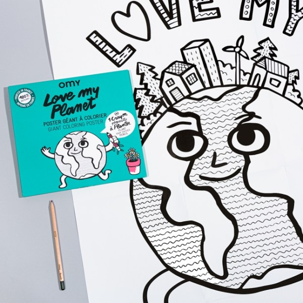 Poster à colorier Love my Planet