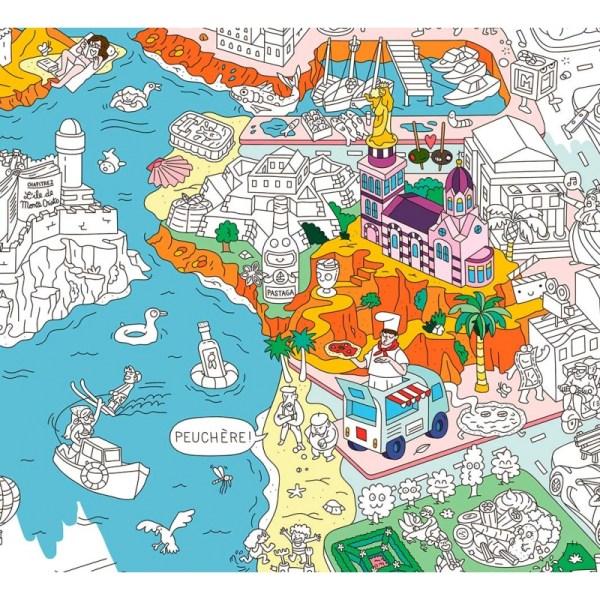 Poster géant à colorier Marseille