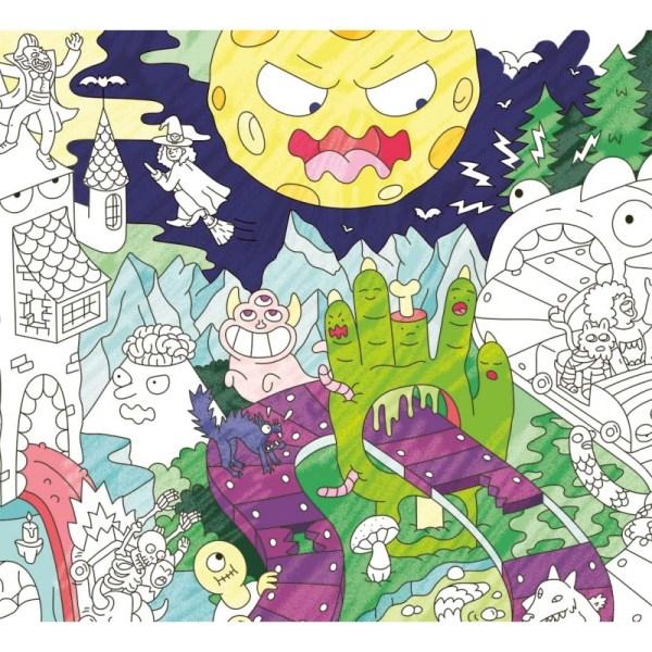 Poster géant à colorier Zombies
