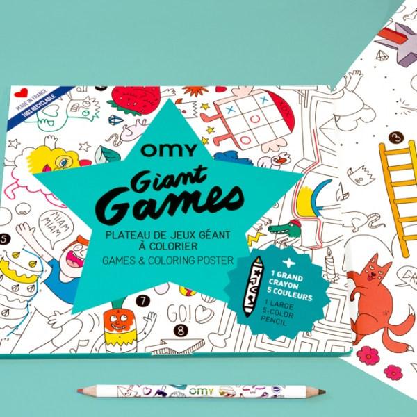 Poster géant à colorier Games