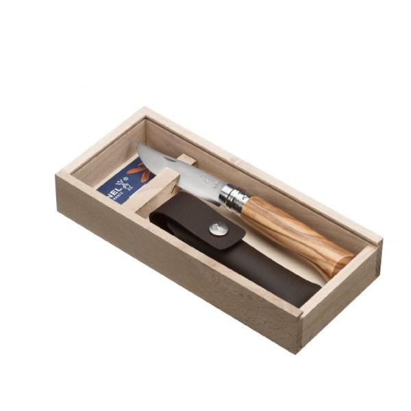 Couteau n°8 olivier et son étui