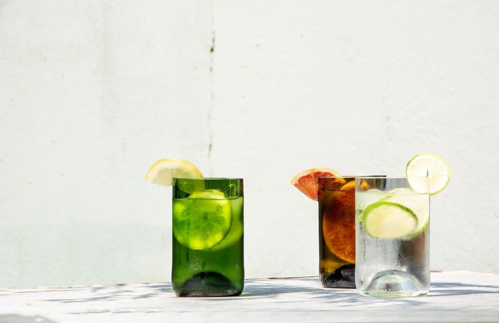 q de bouteilles verre recyclé