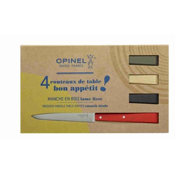 Coffret de 4 couteaux de table n°125 Bois coloré