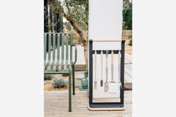Kit ustensiles barbecue + support-andrée jardin