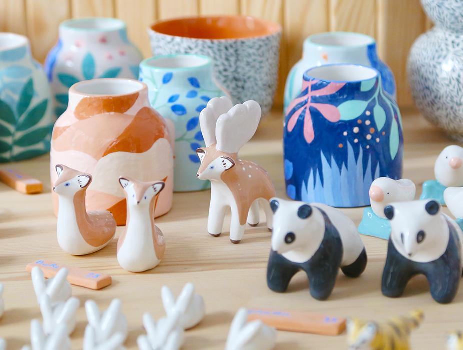 animaux ceramique en boutique