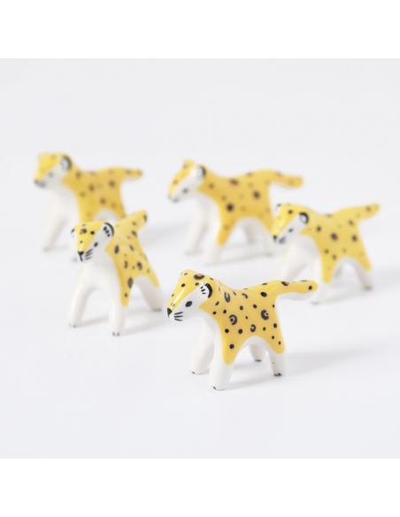 Mini léopard en faïence