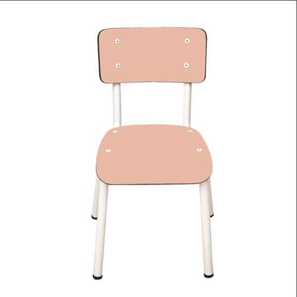 Chaise d'écolier en formica Little Suzie – Saumon