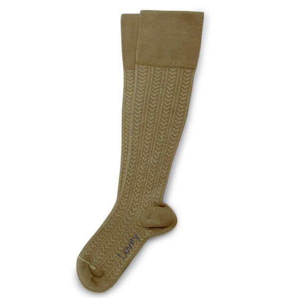 Chaussettes hautes énergisantes Lévity en maille ajourée et fil d'Ecosse – Sauge