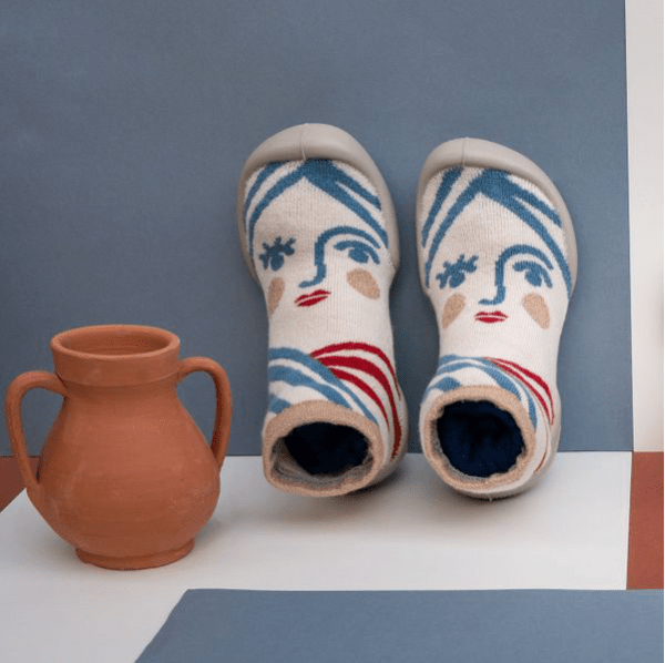 Chaussons en coton et semelle antidérapante – Énée