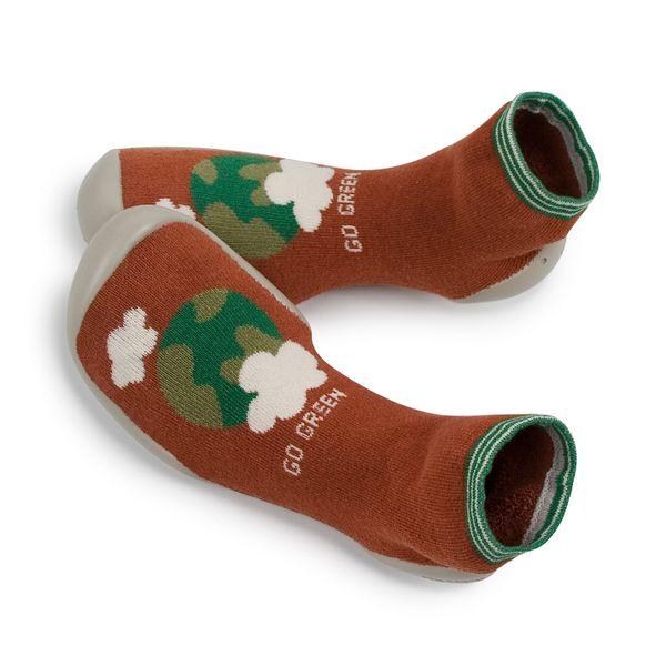 Chaussons en coton recyclé et semelle antidérapante – Go Green