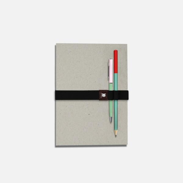 Élastique pour carnet avec porte-stylos – Le Voyageur Gotham