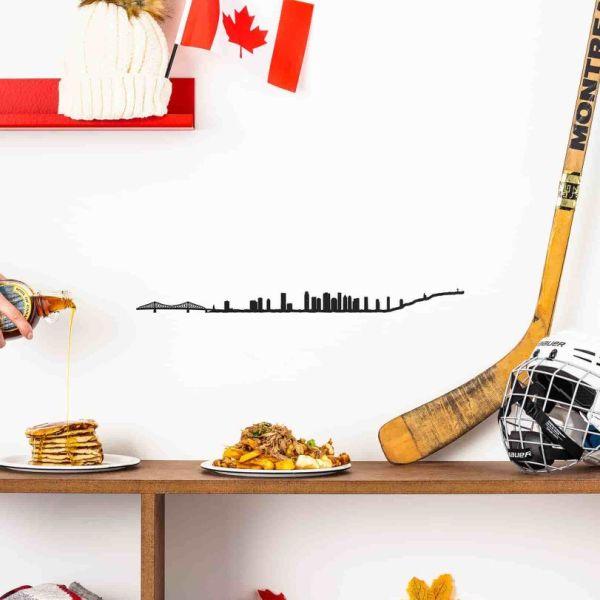 Silhouette murale The Line Montréal