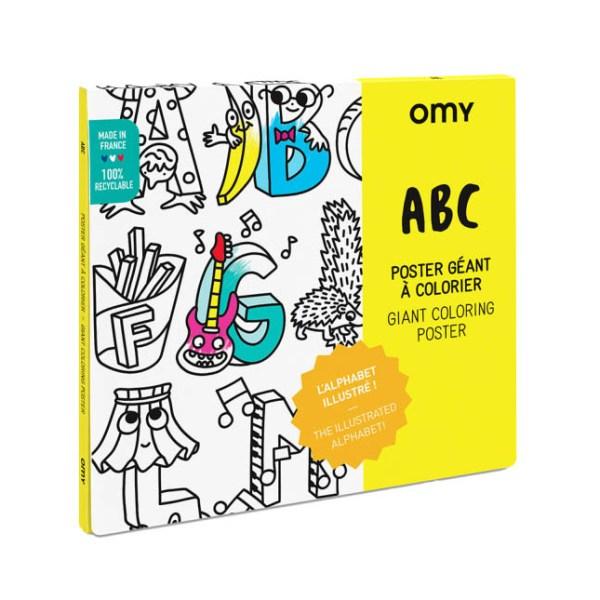 Poster géant à colorier ABC