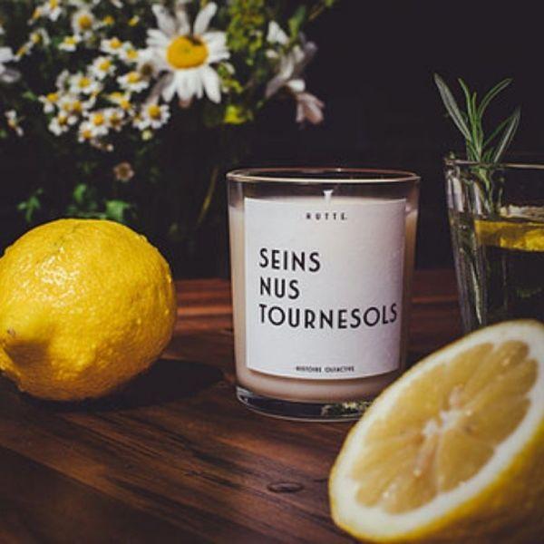 Bougie parfumée – Seins Nus Tournesol