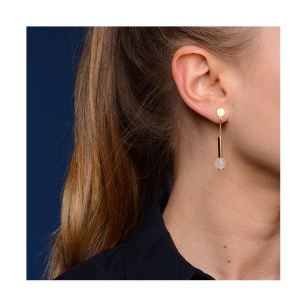 Boucles d'oreilles Ferris Blanc