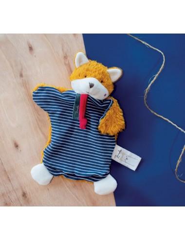 Doudou en coton bio Marionnette – Renard