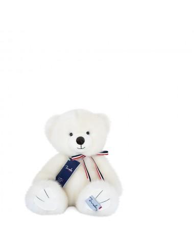 L'ours français 35cm – Blanc poudré