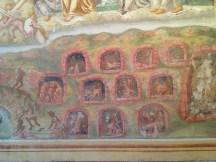 Dettaglio dell'Inferno, affresco interno alla Chiesa della Madonna della Misericordia