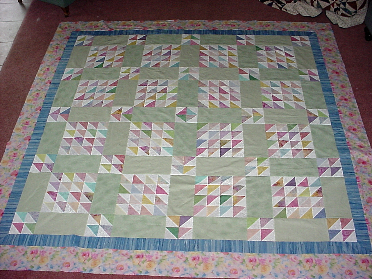 The quilt top is complete