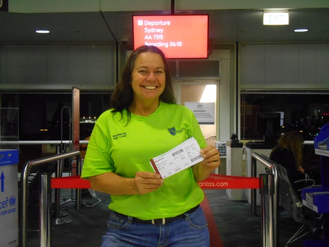 Image of Zoe at the airport