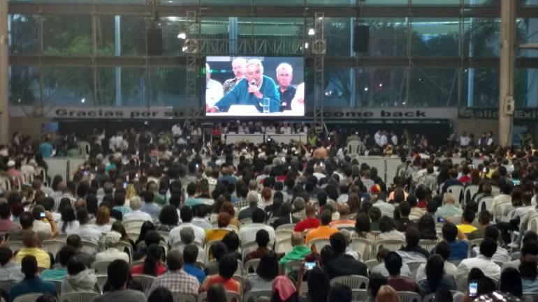 José  'Pepe' Mújica da un discurso en Medellín