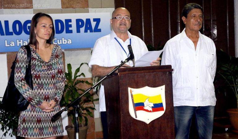 Delegación de paz de las Farc en Cuba