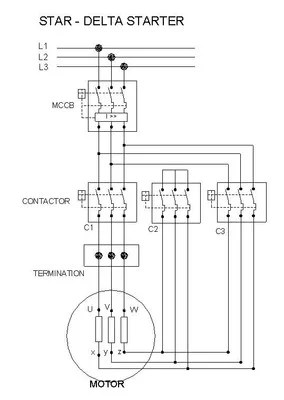 Abb Reversing Contactor Wiring Diagram Cr4 Thread Star Delta Connections For 3 Phase Motors