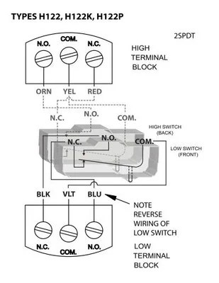 CR4 Thread Differential Pressure Switch Wiring