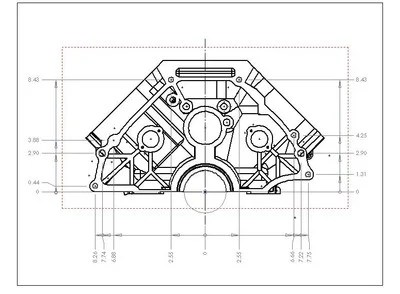 Looking for engine bellhousing bolt pattern blueprints