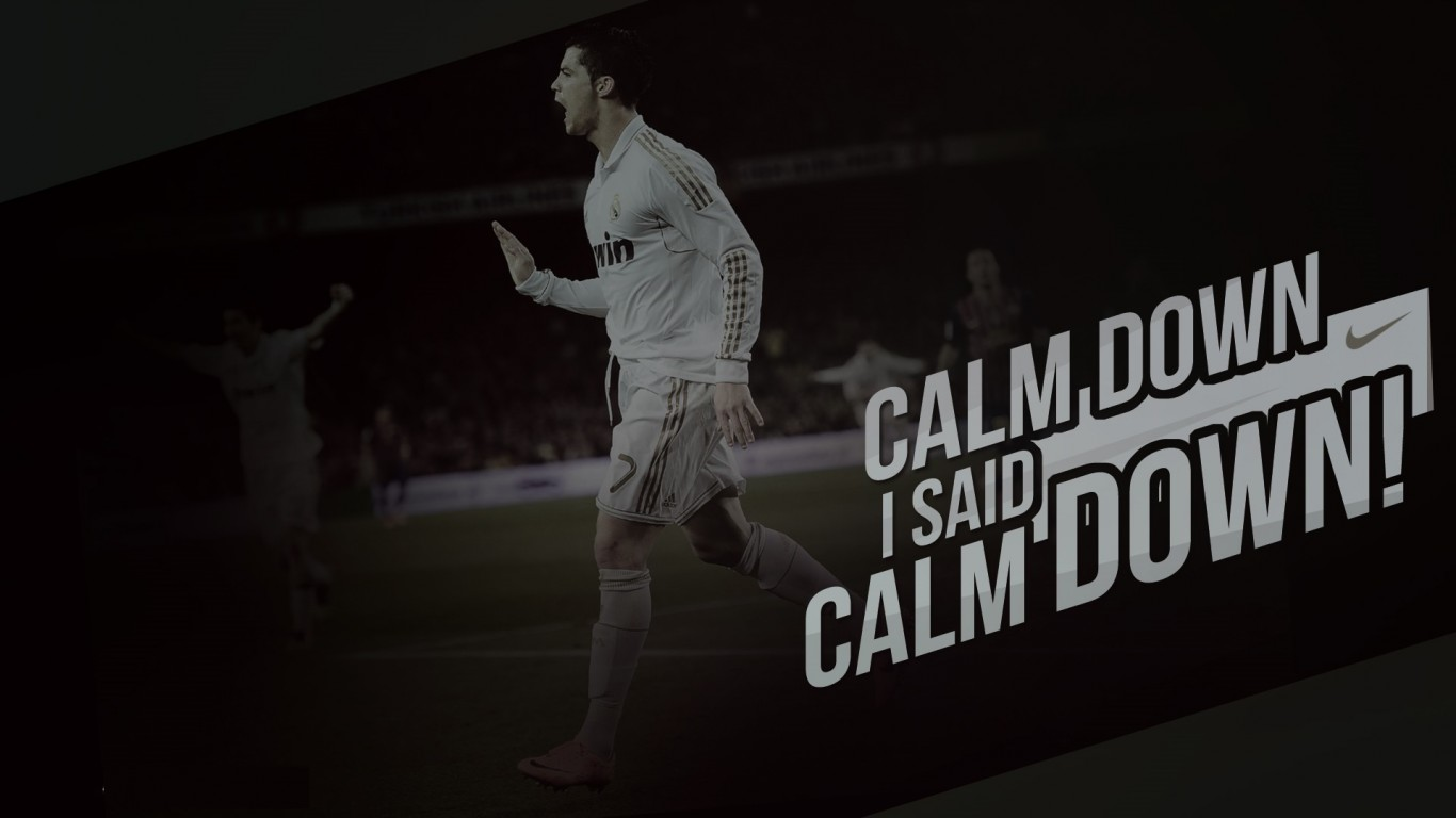 Cr7 Wallpaper Iphone Cristiano Ronaldo Quot Calm Down Quot Wallpaper Cristiano