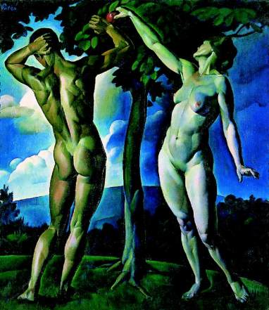 Patkó_Adam_and_Eve_1920