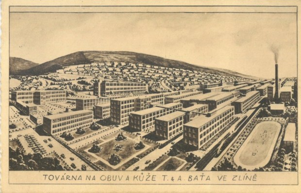 View of Zlín, location of the Baťa company