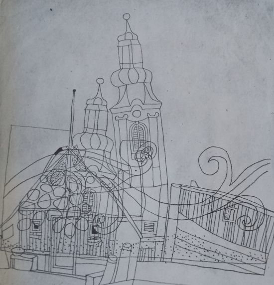 Church steeples with harbour motifs by Lajos Vajda (1936)