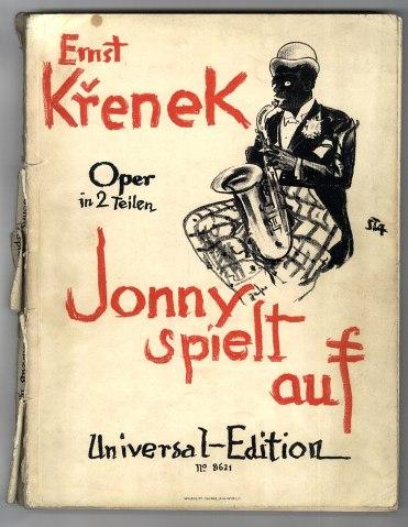Arthur Stadler: Front page design of the first edition of Jonny Strikes Up, 1926, by Ernst KrenekErnst Krenek,