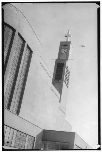 Josef Sudek: Exterior view of Josef Gočár's St. Wenceslas Church, Prague-Vršovice, 1933