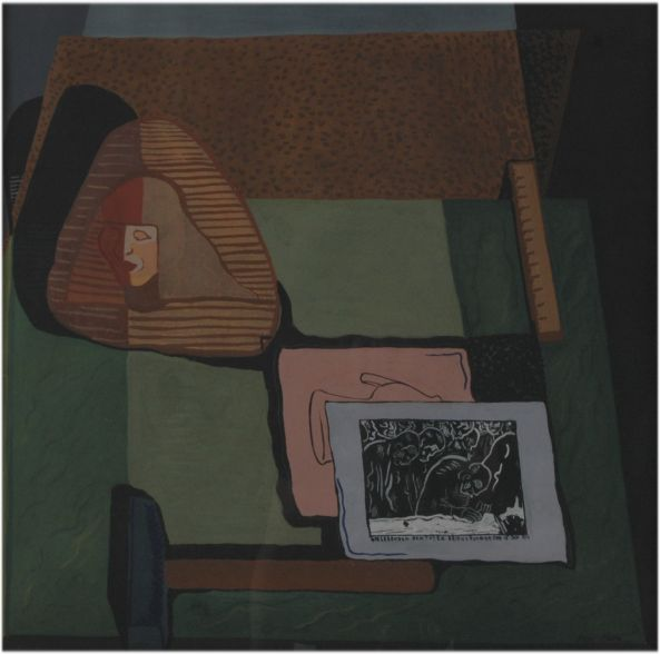 István Dési Huber Still Life with Liebknecht Print