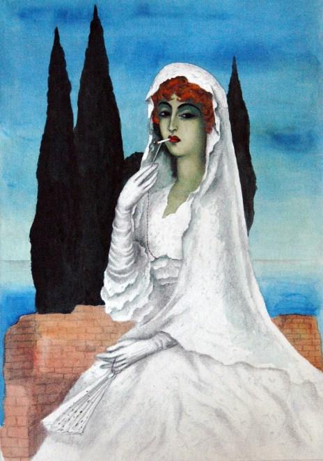 Milada Marešová, Bride with a Cigarette, 1933